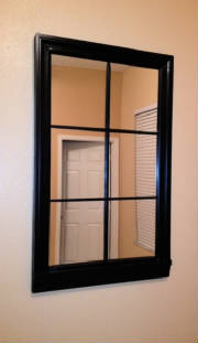 6 Lite Satin Ebony Mirror Window